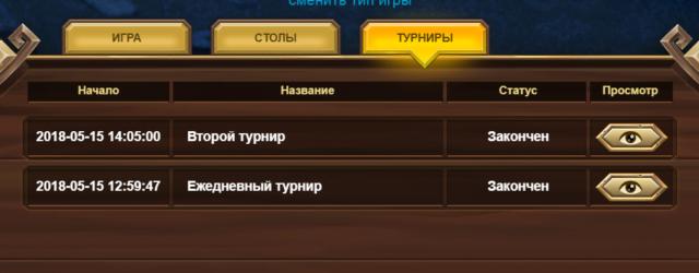 Список турниров