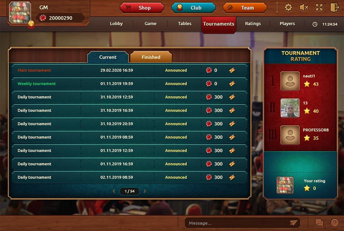 List of future tournaments of backgammon